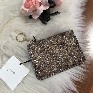 Kate  spade glitter keychain wallet
